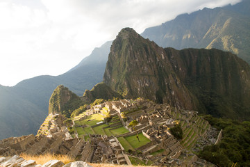 Machu Picchu, Peruvian Historical Sanctuary since 1981 and UNESCO World Heritage Site from 1983, one of the New Seven Wonders of the World in Machu Picchu, Peru on September 3rd, 2016