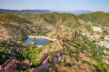 Foto auf Leinwand Befestigung aerial view from Jaigarh fort in Jaipur, India