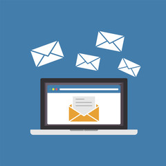 Sending or receiving email. Email marketing.