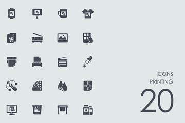 Set of printing icons