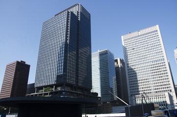 Modren office building and cityscape at marunouchi near JR tokyo