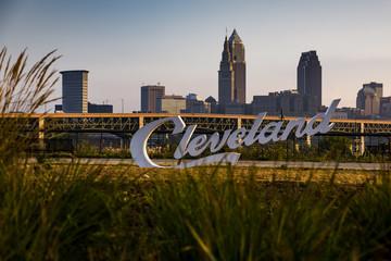 Destination Cleveland, Ohio - Skyline View at Sunrise