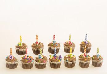 Chocolate Happy Birthday Cupcakes