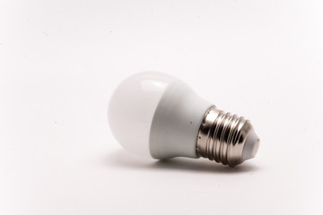 White light bulb isolated on a white background