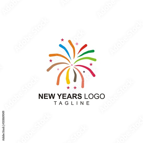 fireworks new year vector logo stock image and royalty free vector rh fotolia com American Fireworks standard fireworks logo vector