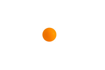 Orange table tennis ball in isolated background