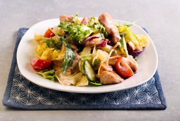 Vegetable and chicken breast salad