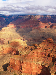 Gorgeous view of rock formation on the south rim of the Grand Ca