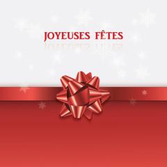 "Carte ""Joyeuses Fêtes"""