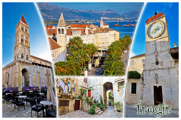 UNESCO town of Trogir postcard with label