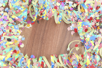 Confetti and streamers, carnival, party, background