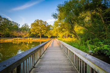 Boardwalk at Roosevelt Wilson Park, in Davidson, North Carolina.