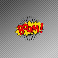 multicolored comic sound effects in pop art style, bubble speech