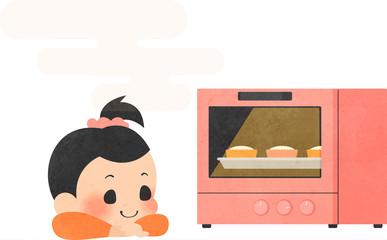 お菓子を作る女の子