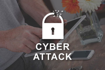 Concept of cyber attack