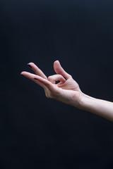 Female Yoga mudra hand