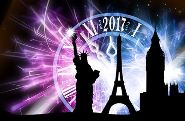 Silvester in Paris - London - New York