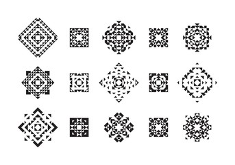 Set of Geometric Ethnic Elements