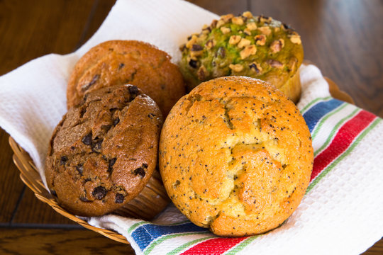 assortment of fresh baked muffins