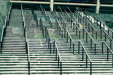 Foto op Plexiglas Stadion Modern Aluminum Stair Case full screen. Ukraine