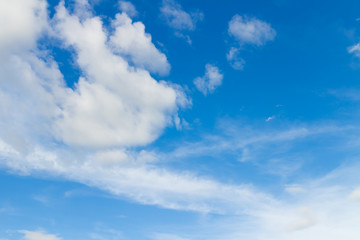 Peaceful sky and cloud in good weather day. Sky And Clouds in daytime.