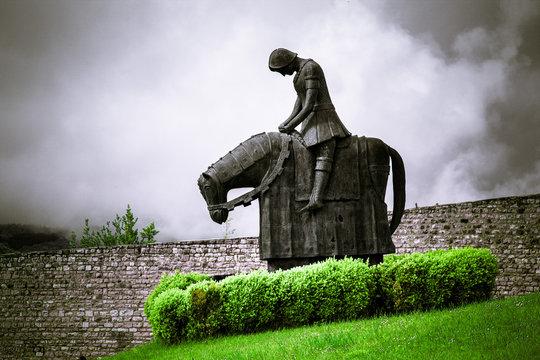 Il cavaliere Francesco di ritorno dalla battaglia di Spoleto