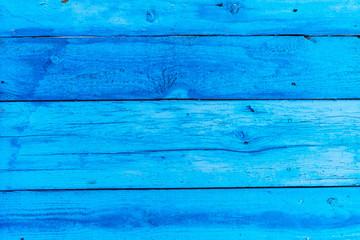 Horizontal wooden planks blue