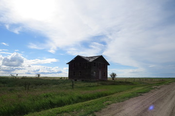 Photography: Old ghost towns and abandoned buildings all over the province. Summer 2015. Robsart, Saskatchewan, Canada.