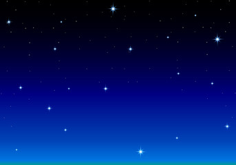 A lot of stars in the night dark blue background
