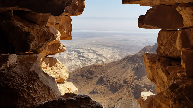 MASADA FORTRESS. Judean Desert.
