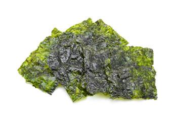 Sheet of dried seaweed, Crispy seaweed isolated on white backgro