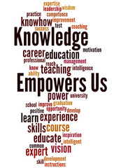 Knowledge Empowers Us, word cloud concept 7