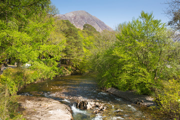 River Coe Glencoe Village Lochaber Scottish Highlands Scotland UK