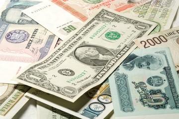 Banknoten verschiedener Länder