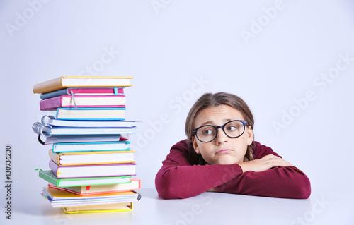 pile of books teen - photo #27