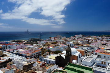 Views of the city of Las Palmas de Gran Canaria from the cathedral