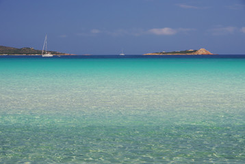 Turquoise water of the Sardinian sea