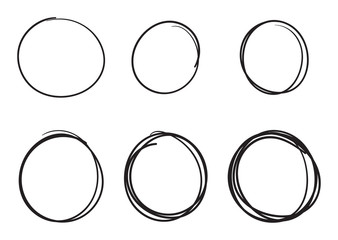 hand drawn circles vector