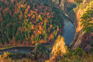 Obraz Dunajec gorge in Pieniny mountains, Poland - fototapety do salonu