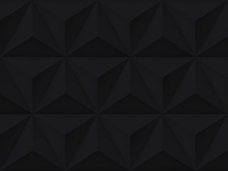 Vector triangles retro background, mesh gradient, dark geometric wallpaper, black pattern