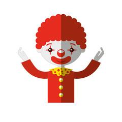 circus clown character icon vector illustration design