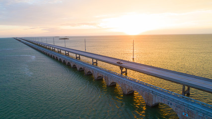 Sunrise Seven Mile Bridge Overseas Highway Florida Keys