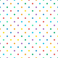 Seamless colorful polka dot pastel color pattern