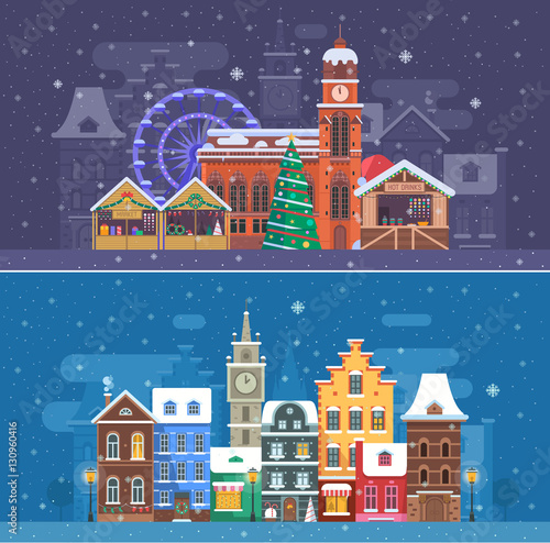 Incredible Snow City Landscapes With Winter Europe Town And Christmas Interior Design Ideas Skatsoteloinfo