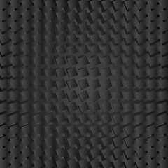 Abstract black geometric squares background