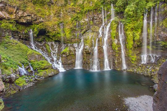 cascade de Grand Galet, rivière Langevin, île de la Réunion