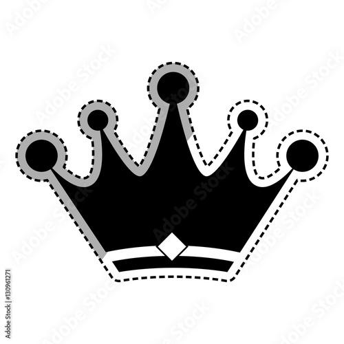 quotcrown royal symbol icon vector illustration graphic