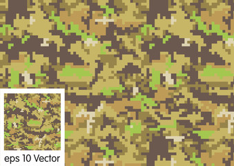 Digital Camouflage pattern vector