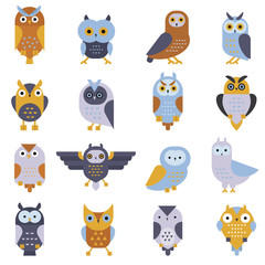 Cartoon cute owl vector