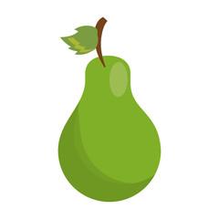 cartoon sweet pear fruit icon vector illustration eps 10